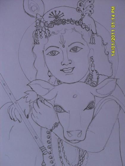 Lord Krishna Drawings Shanthimathi